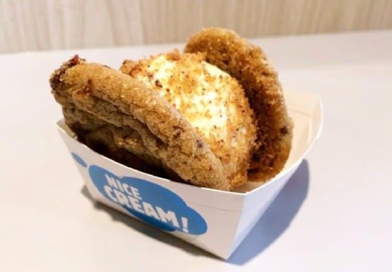 「クッキーサンドイッチ」は、手のひらサイズのカップ入り