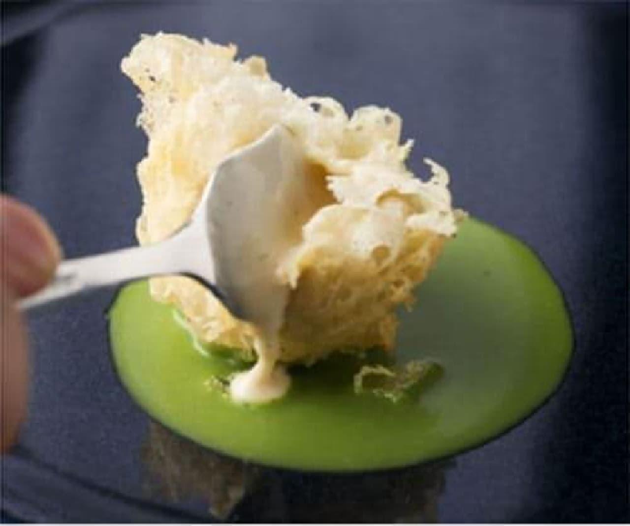 外は熱々、中はひんやり「マロンアイスの天ぷら」