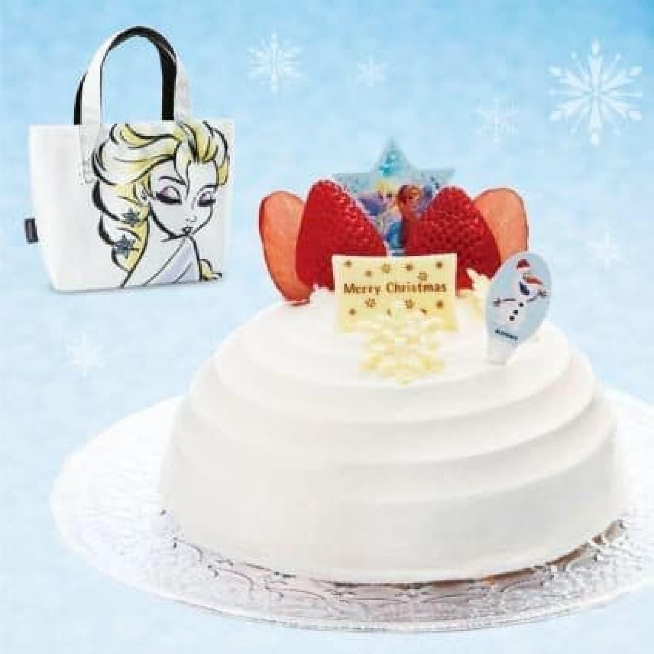 トートバッグが付属する「アナと雪の女王」のケーキ(c)Disney