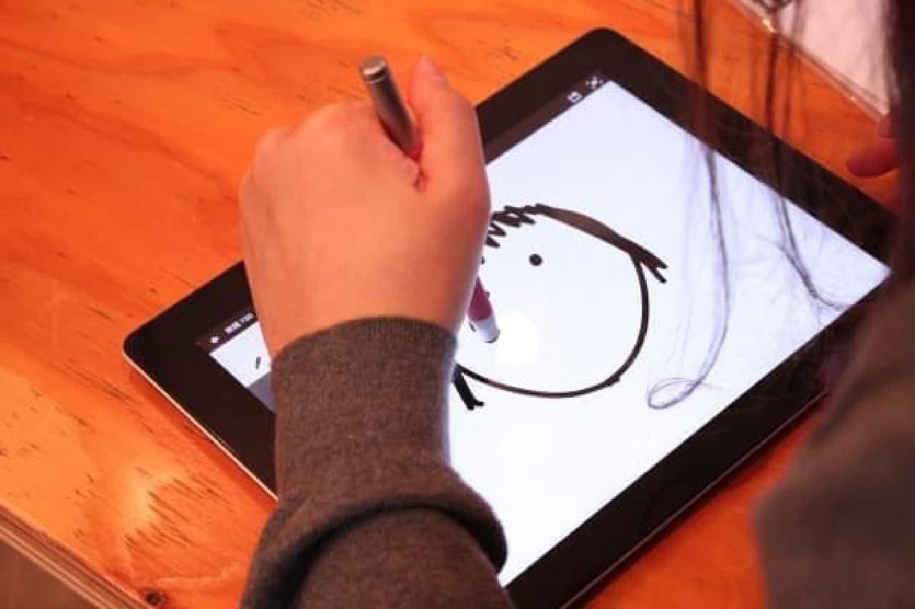 お絵描き感覚でイラストやメッセージが描ける