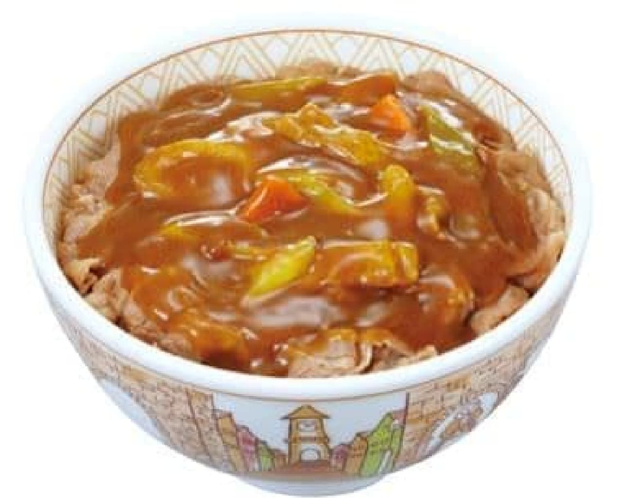 すき家「カレー南蛮牛丼」