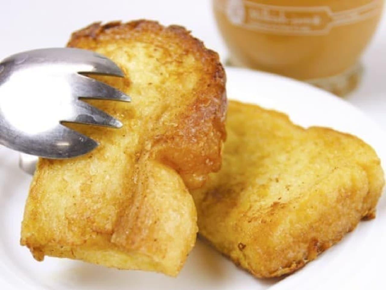 「ホテルピエナ神戸」で人気のフレンチトースト