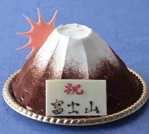 富士山型ティラミスケーキ!