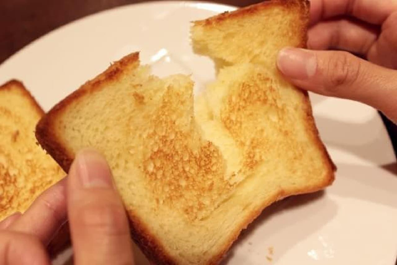 サクふわ、香ばしいリッチなトースト