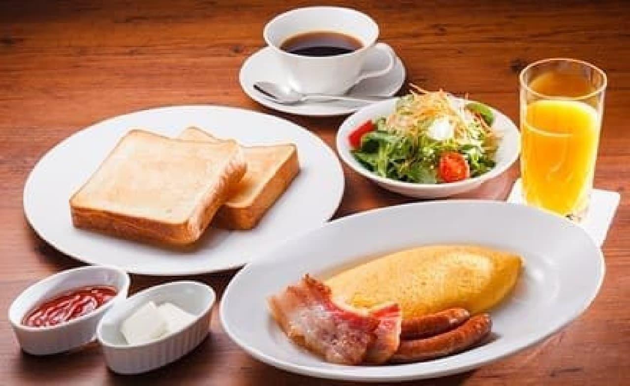 朝食メニュー「トースト&エッグセット」(1,500円)