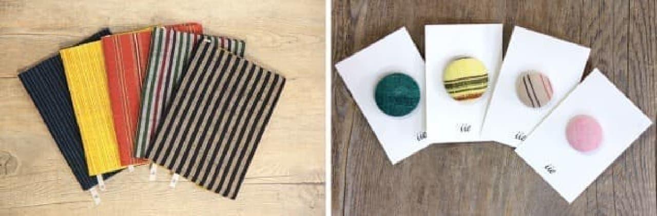 「会津木綿」を使った小物なども販売される