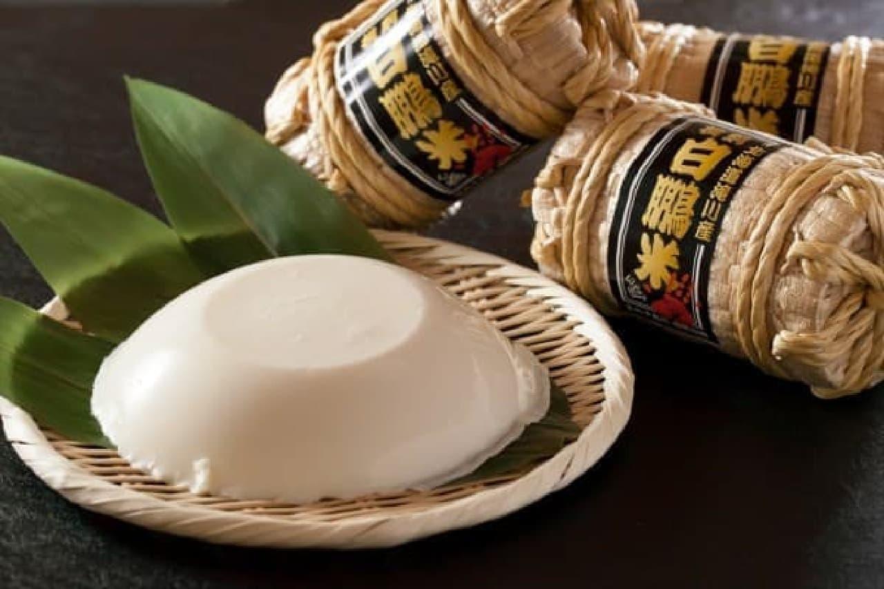 白鵬米の粒入り!特大サイズの真っ白「白星プリン」