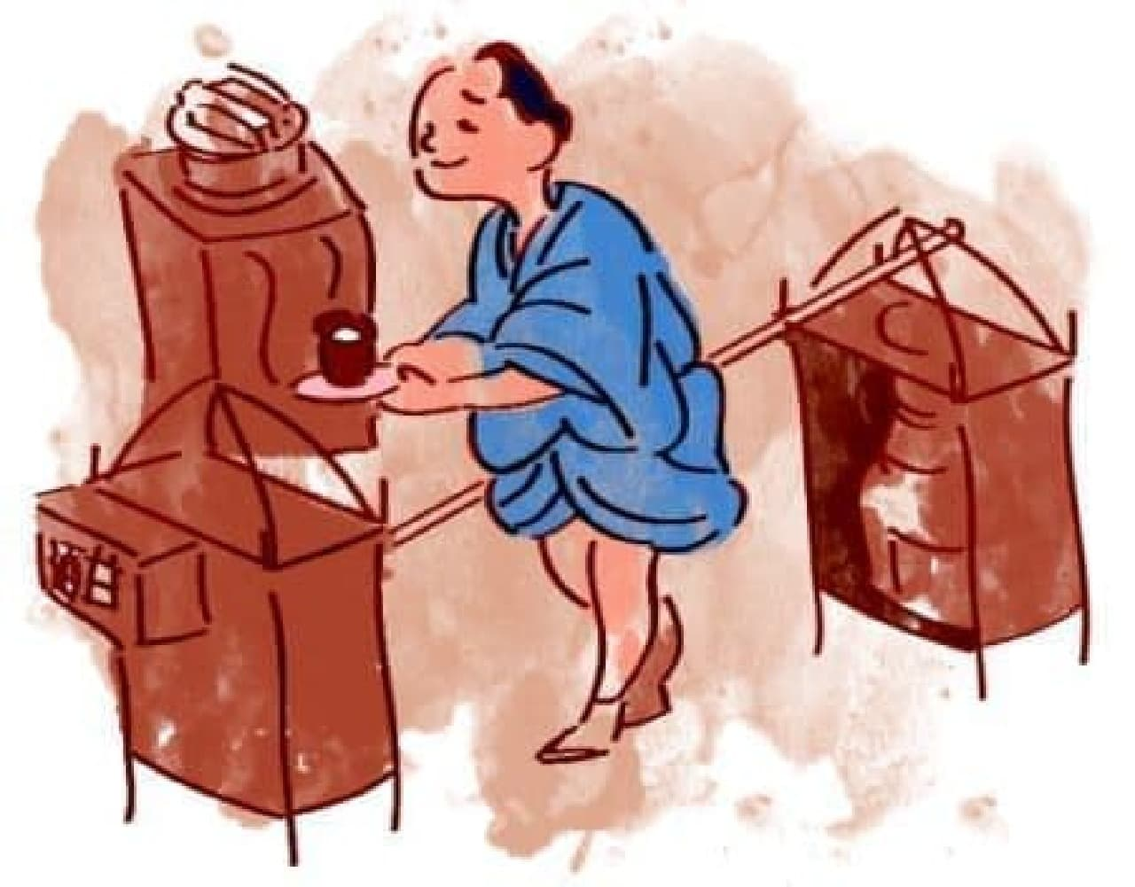 江戸時代の甘酒売り(イメージ)