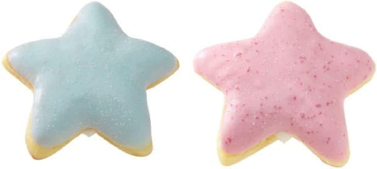 「カルピス スタードーナツ」ソーダ(左)、ストロベリー(右)