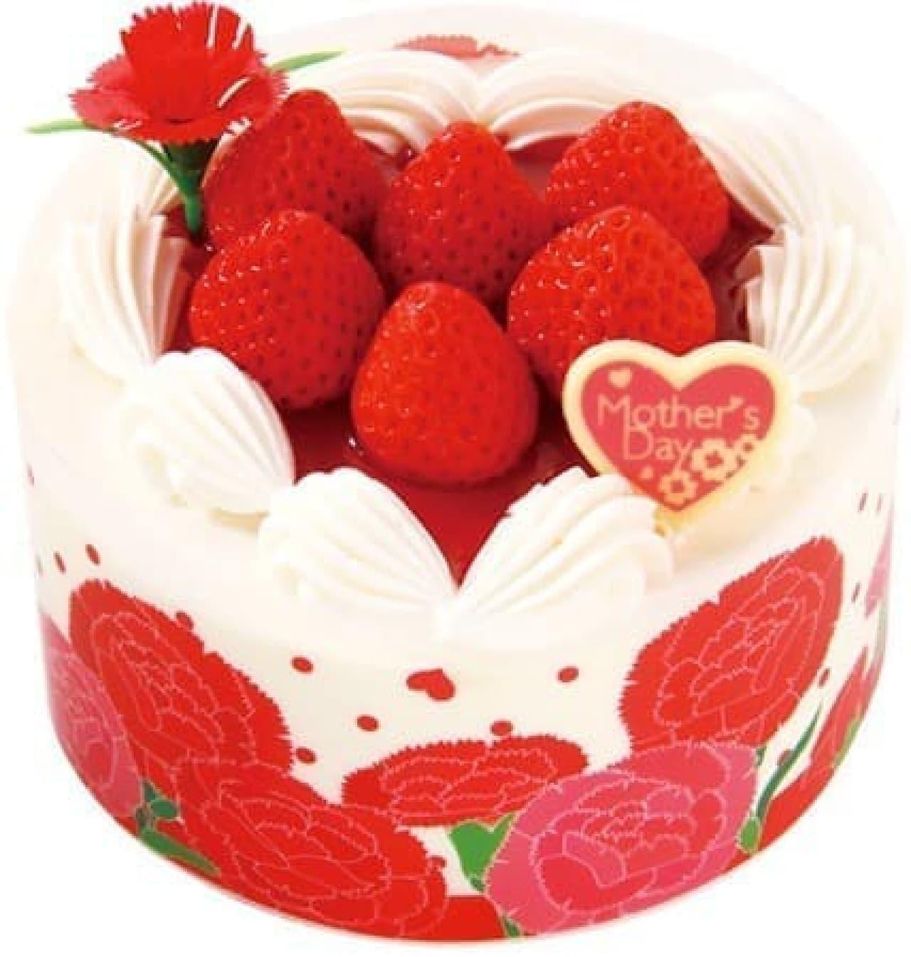 「母の日 ハートショートケーキ」