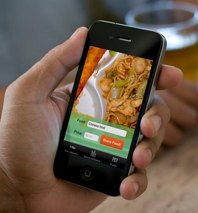 食べ残しを隣人と共有する iPhone アプリ「LeftoverSwap」