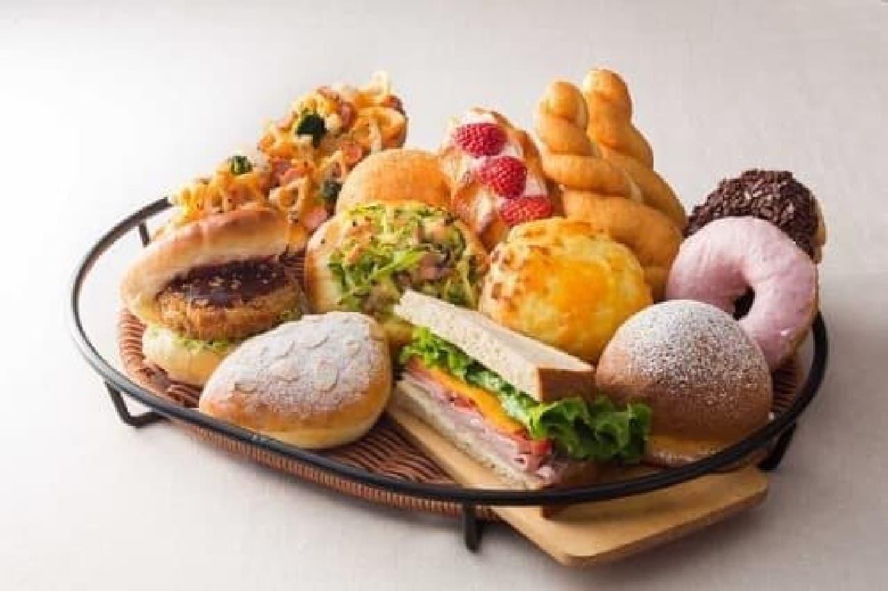 地元・茨城の食材をふんだんに使ったパンたち