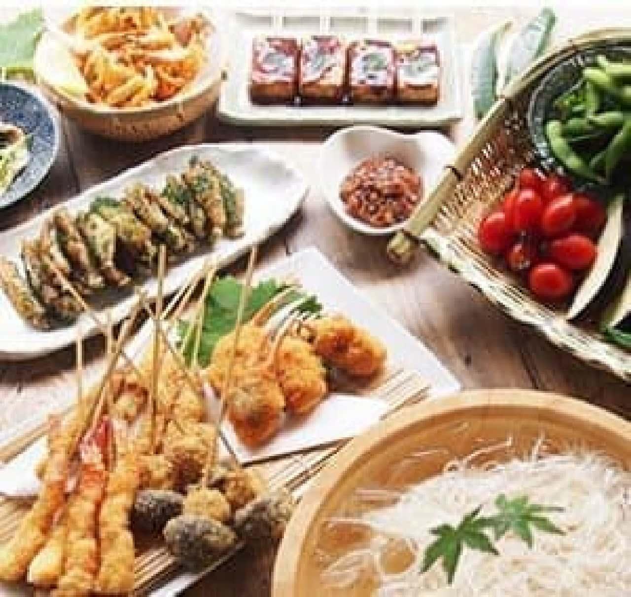 厳選された和の食材が楽しめる