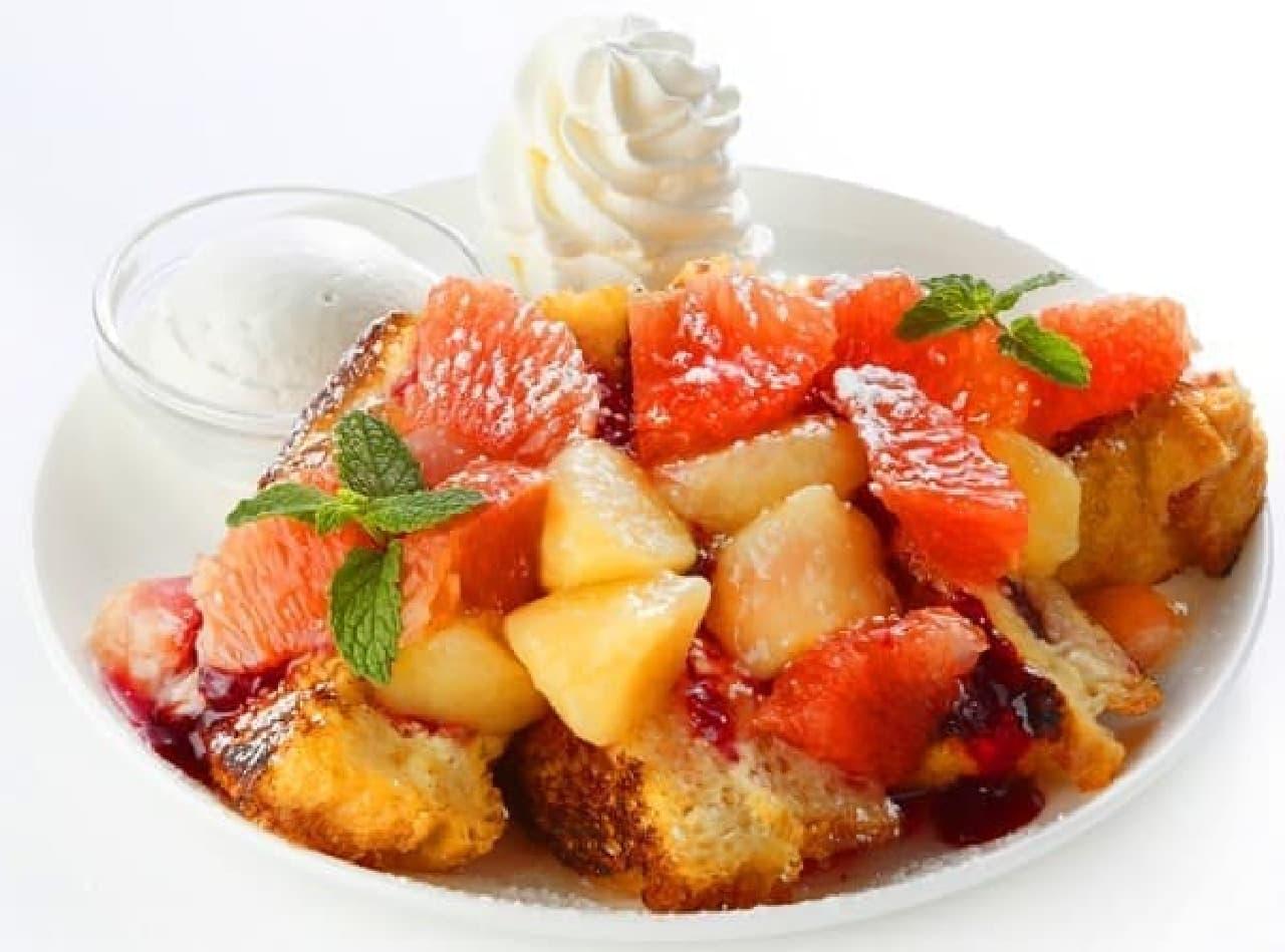 旬の白桃のおいしさがぎゅっと詰まった一皿