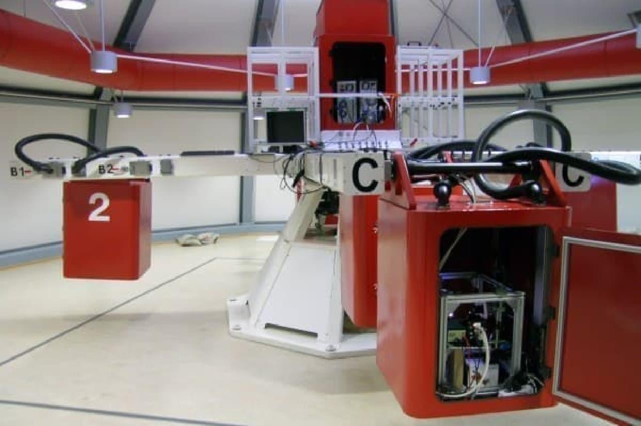 遠心分離機  (出典:欧州宇宙機関ホームページ)