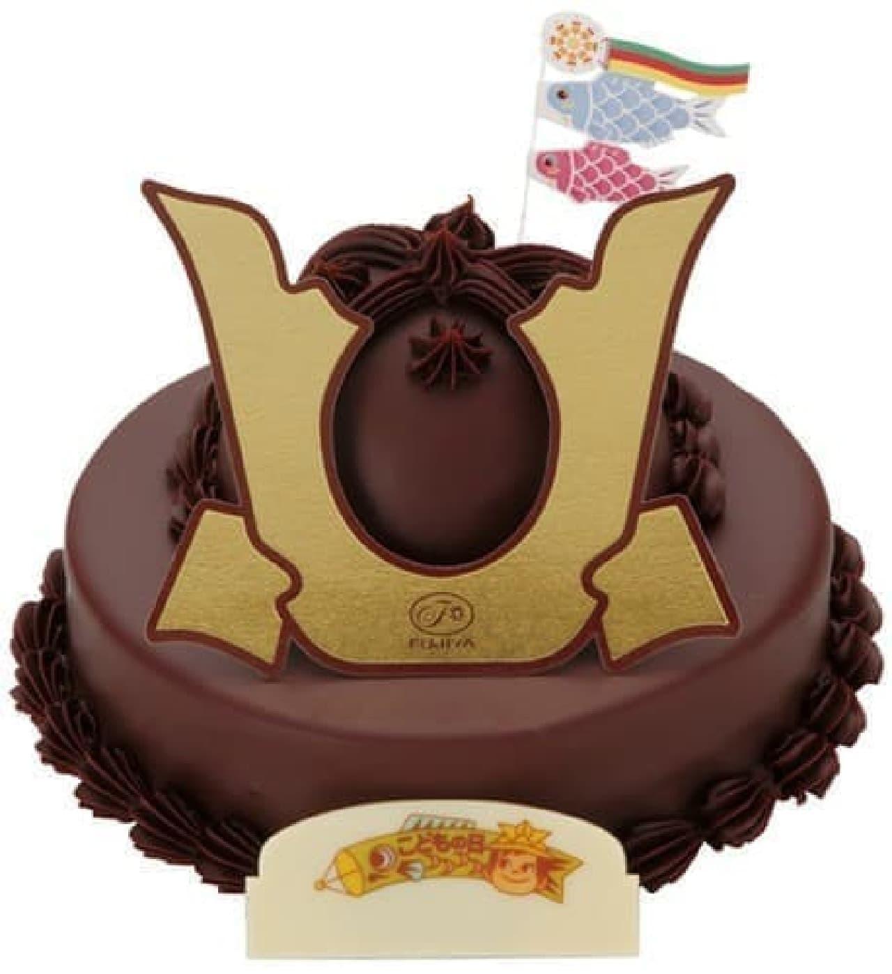 不二家のこどもの日定番商品「かぶとケーキ」、今年も登場