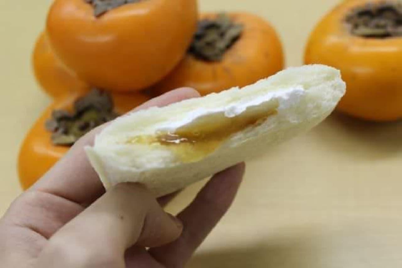 柿ジャムとホイップクリーム