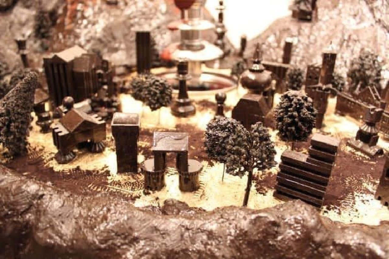 湧き出すチョコレートが街になるなんて!