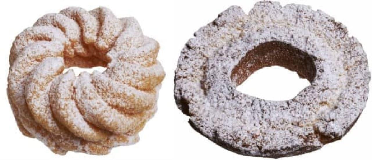 シンプルトッピングの「粉雪ドーナツ」2種が登場