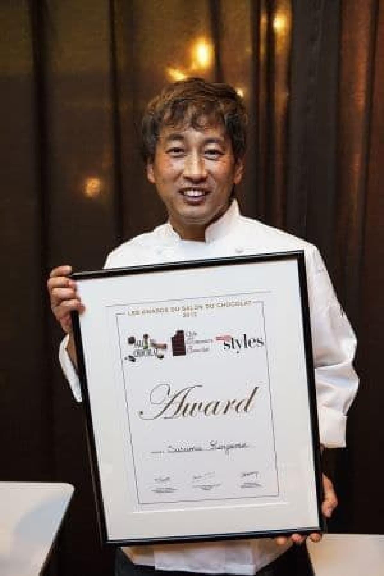 2012年外国人部門最優秀ショコラティエ賞を受賞したコヤマススムさん