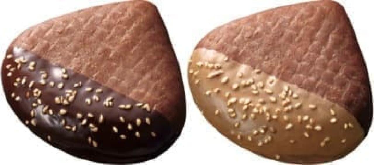 「焼き栗ドーナツ」チョコ(左)、マロンチョコ(右)