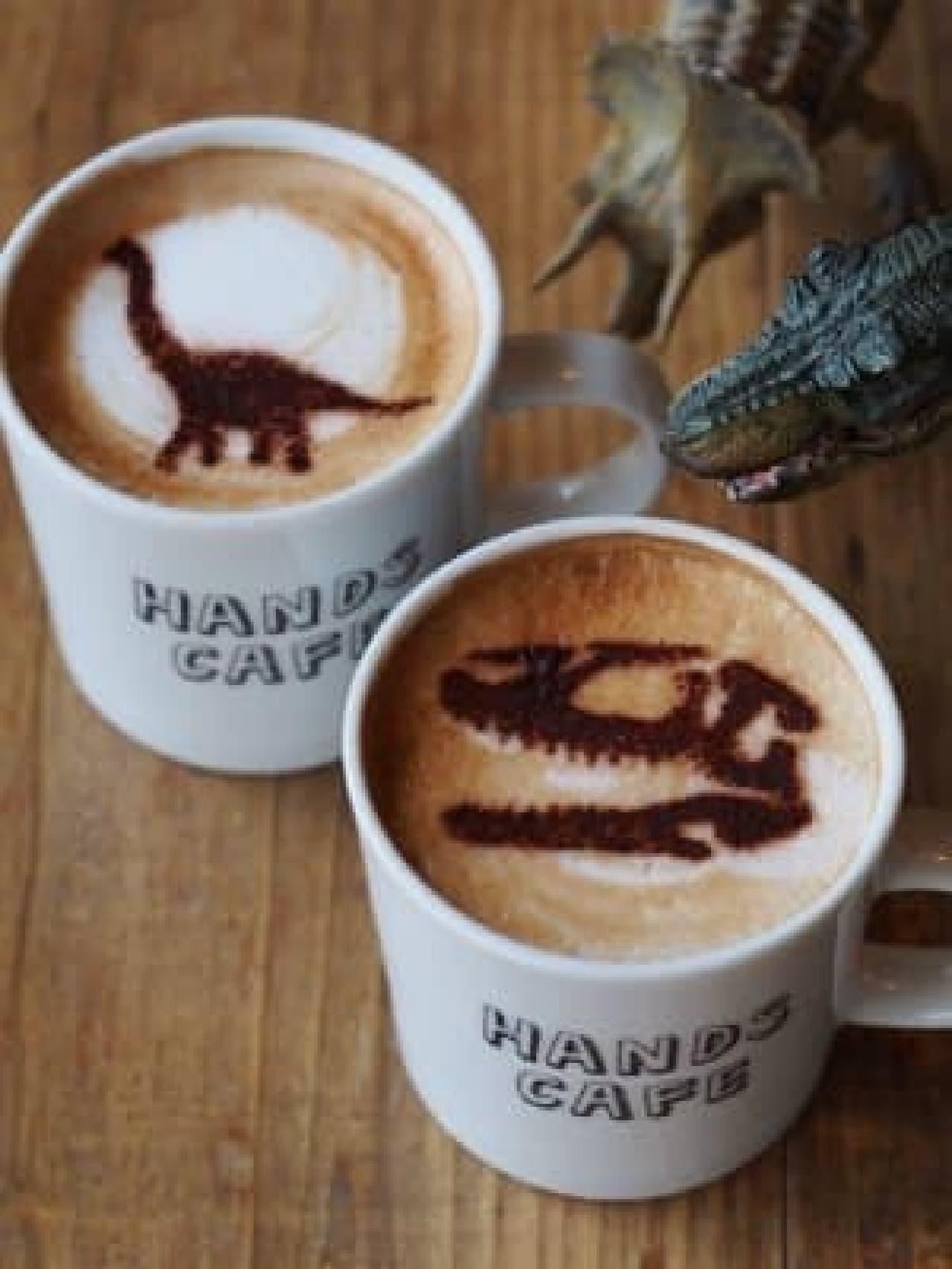 恐竜ラテは、2店舗共通メニュー
