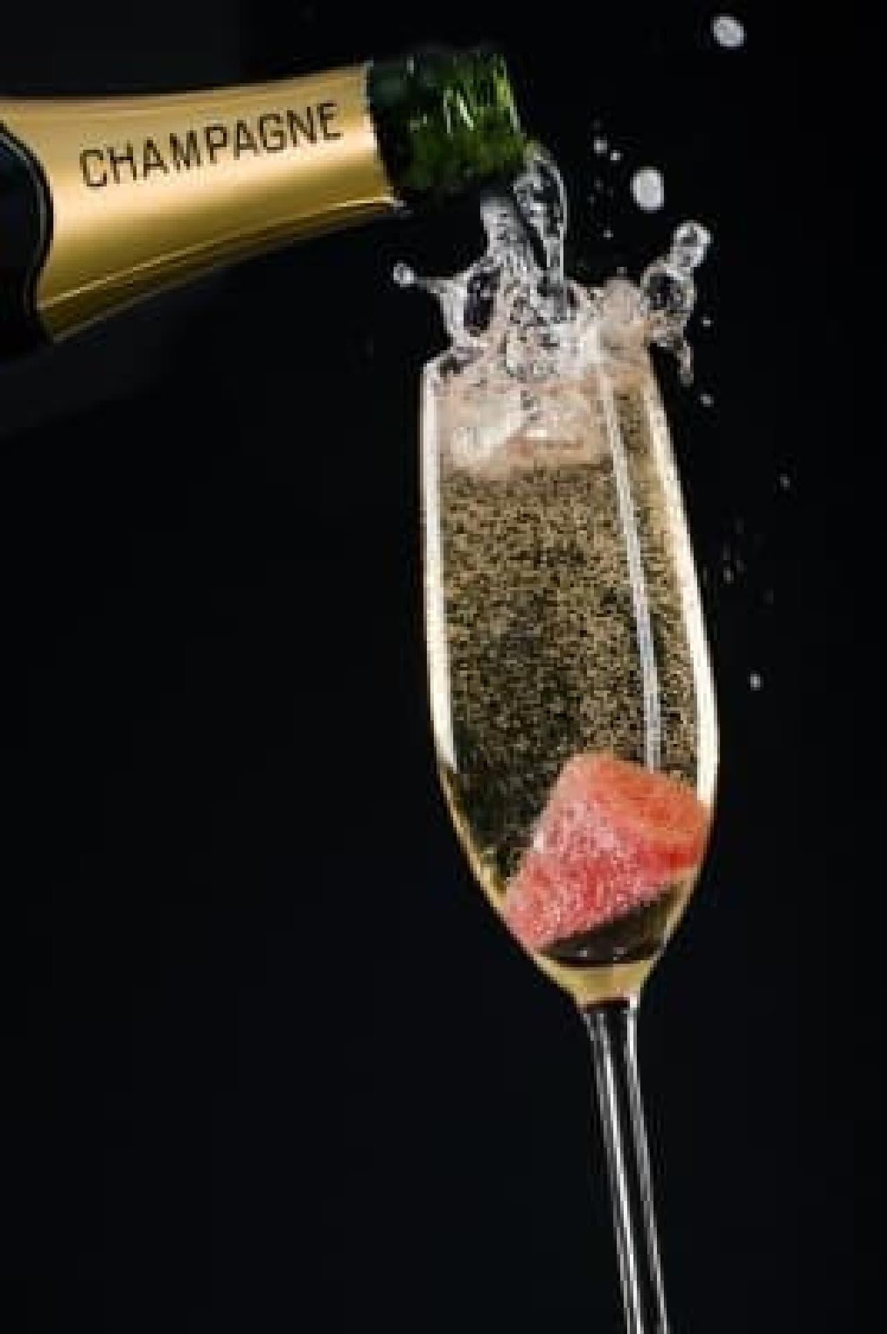 シャンパンに入れても
