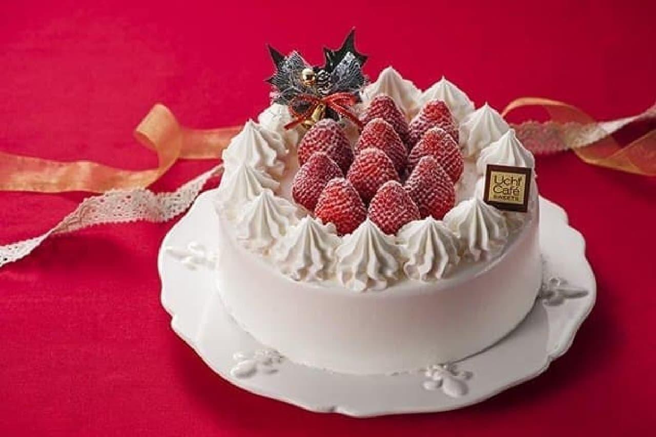 ローソンのクリスマスケーキは個性派ぞろい  (画像:「Uchicafe SWEETS 苺のショートケーキ」)