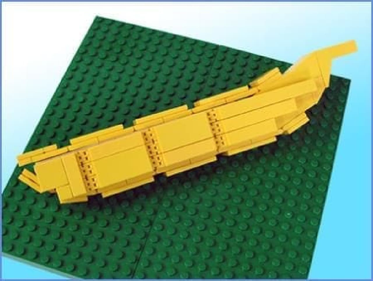 このバナナの皮を...  (出典:Let's LEGO)
