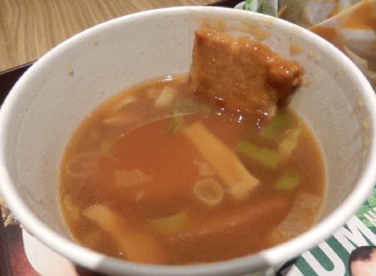 とろみのある魚介系スープ
