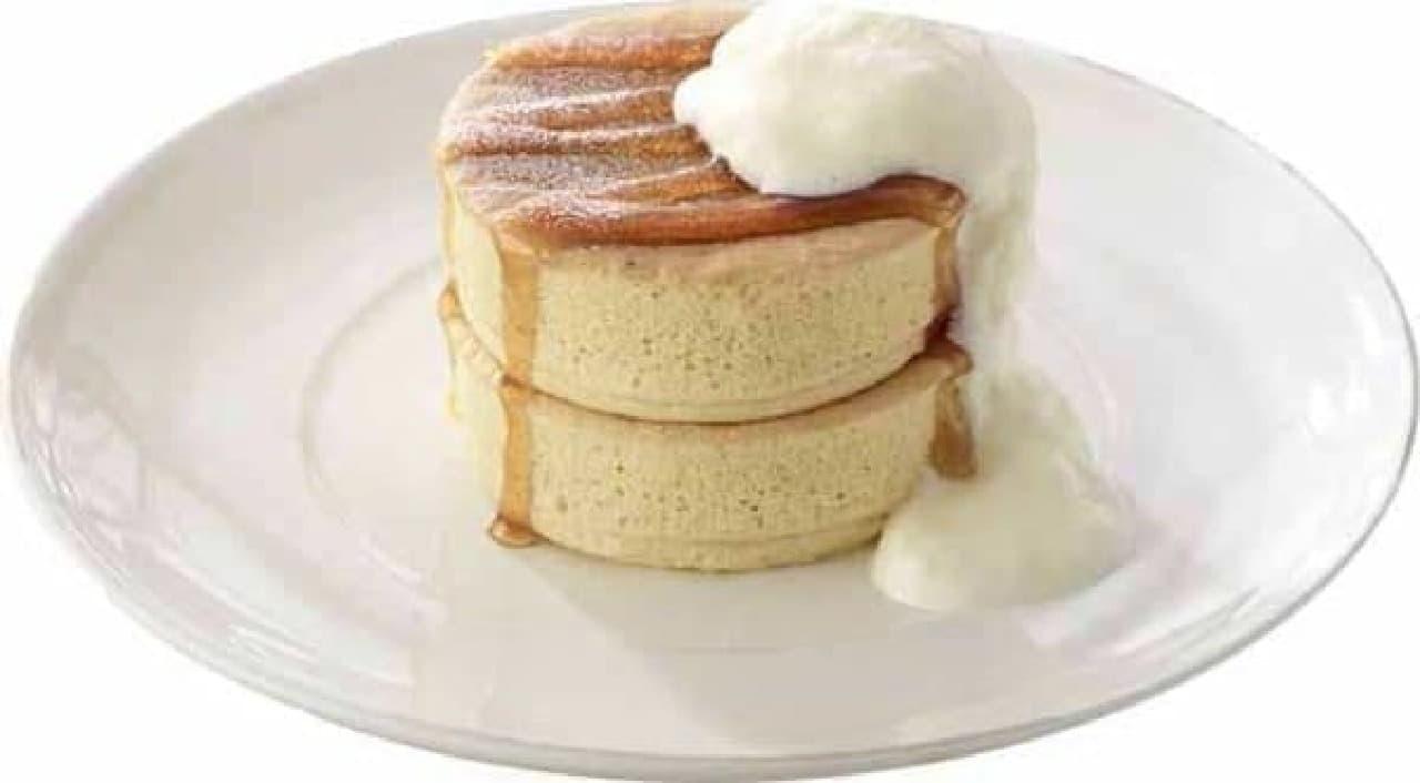 厚切りパンケーキは2枚セット!