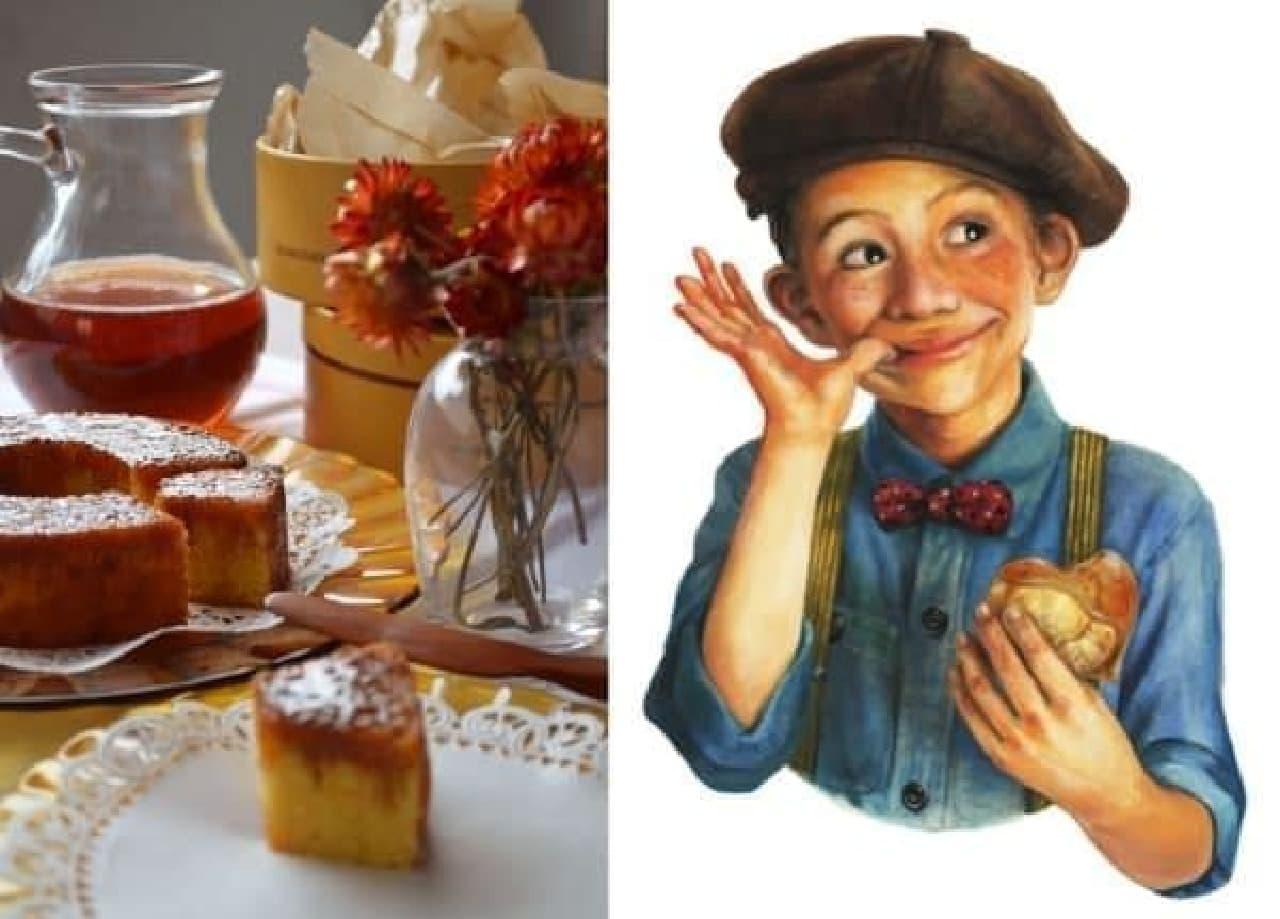 公式キャラクター「メープル坊や」(右)  一緒に食べて、みんな笑顔に!