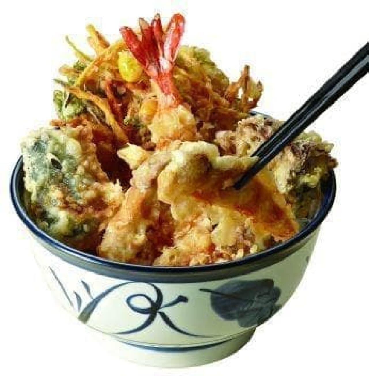 秋の味覚たっぷり!「松茸天丼」