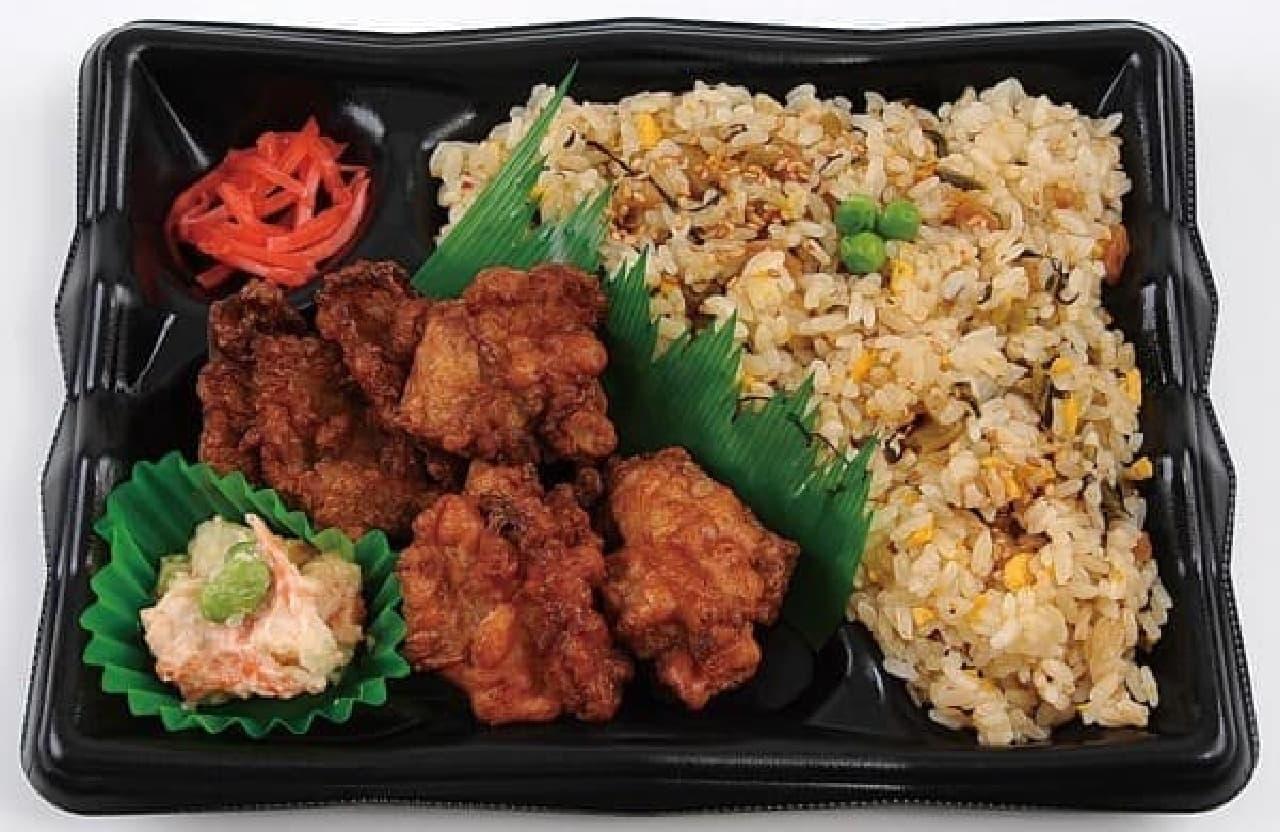 熊本の美味しさを詰め込んだ「阿蘇高菜炒飯と唐揚げ弁当」