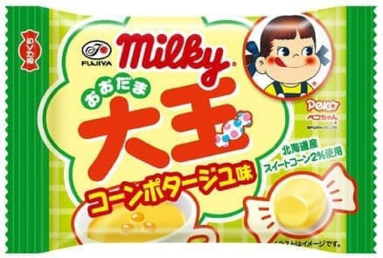 「コンポタ味」のミルキーが登場!