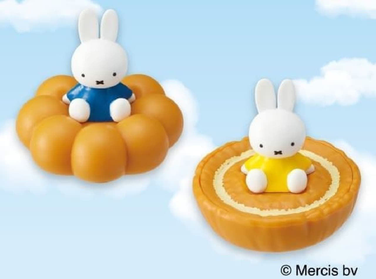 ミッフィーちゃんがドーナツにちょこん!