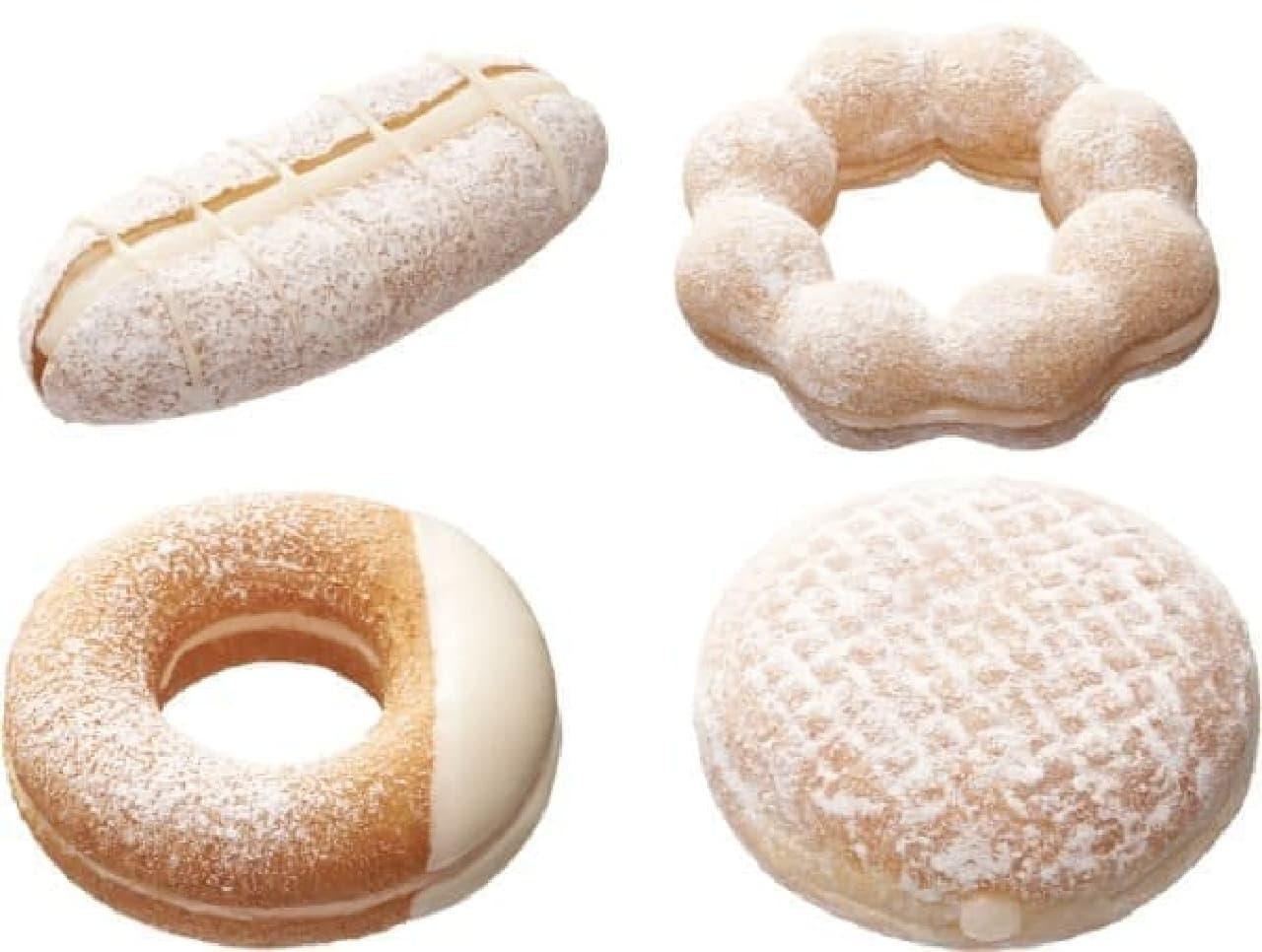 4種の白いドーナツが登場