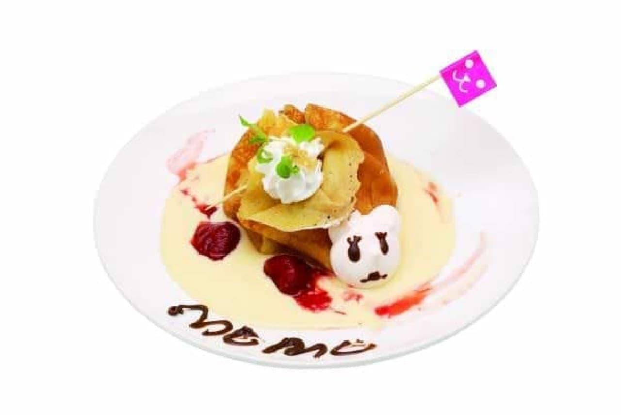 ももちが試食していた「幸せ包みの MOMO クレープ」   (グルメサイトだから料理の写真も載せておこう…)