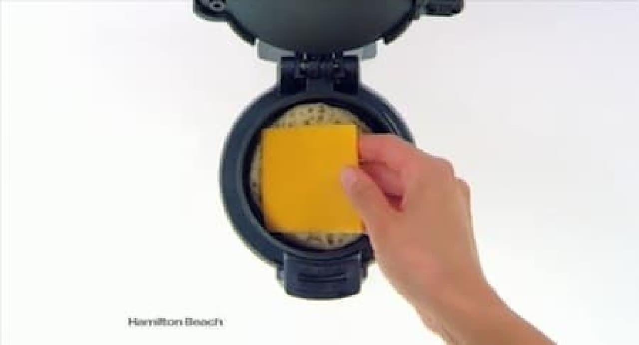 チーズを投入