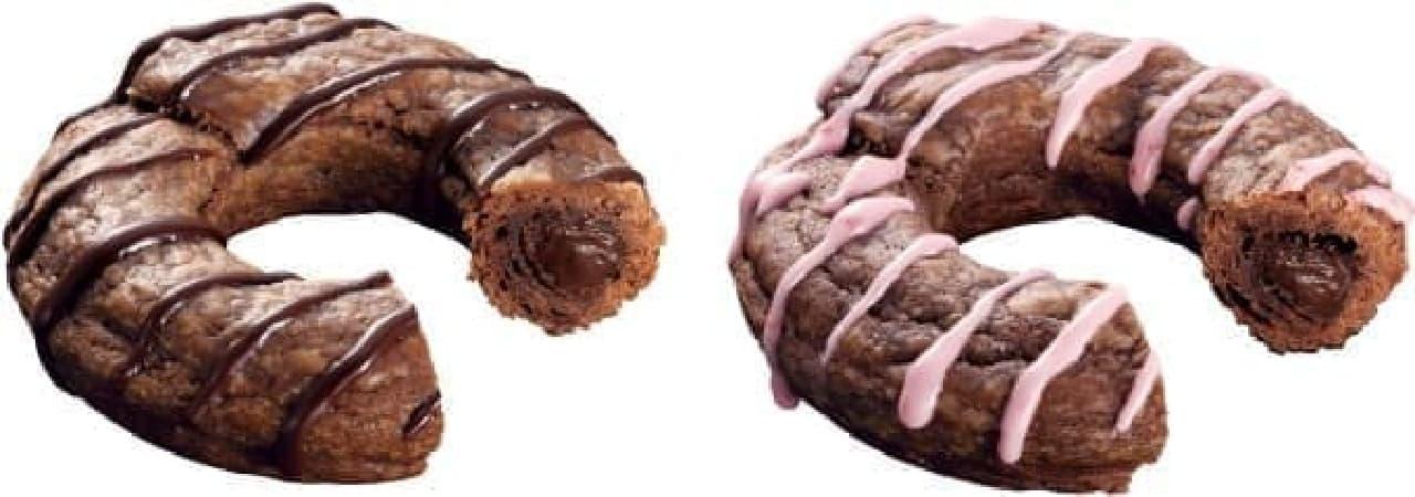 チョコ(左)、ストロベリー(右)