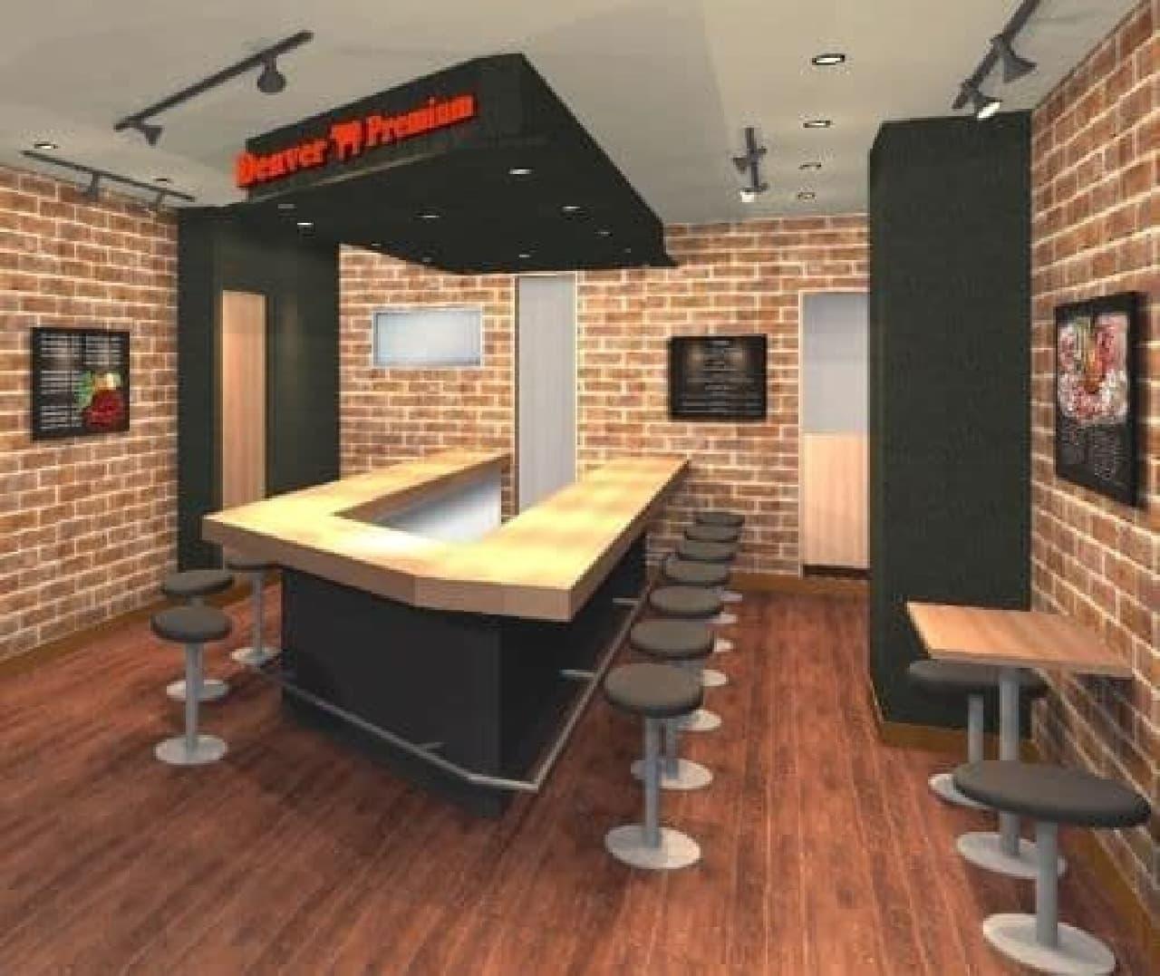 「アメリカンステーキハウス デンバープレミアム 西新宿店」内観イメージ