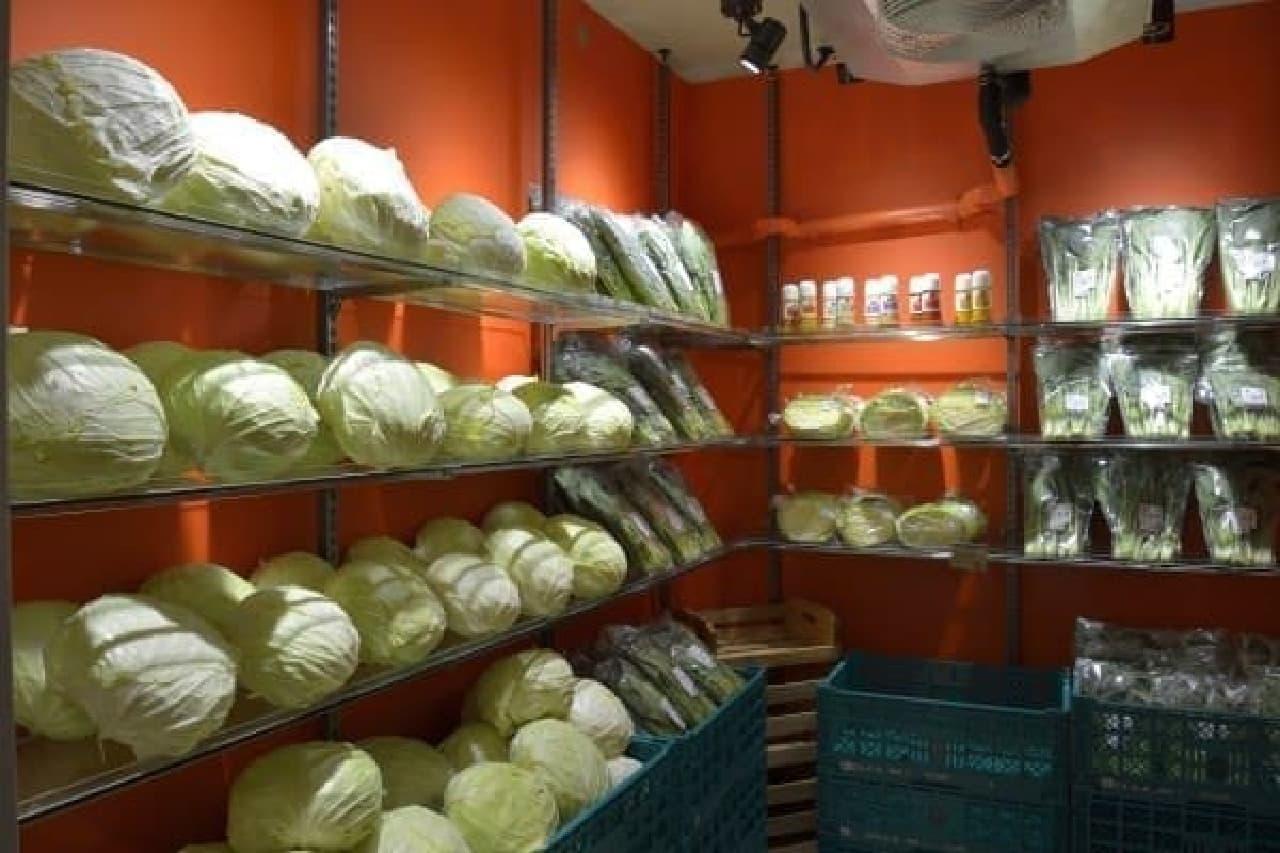 中には、新鮮野菜たちが丁寧に並べられている