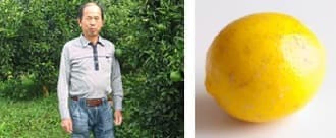 生産者の中田さん(左)と、殿堂入りしたレモン