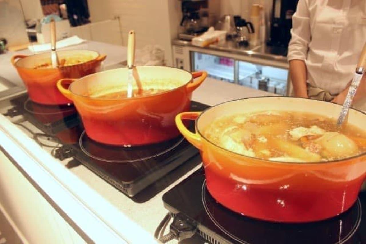 野菜をたっぷり使ったスープもあるよ!