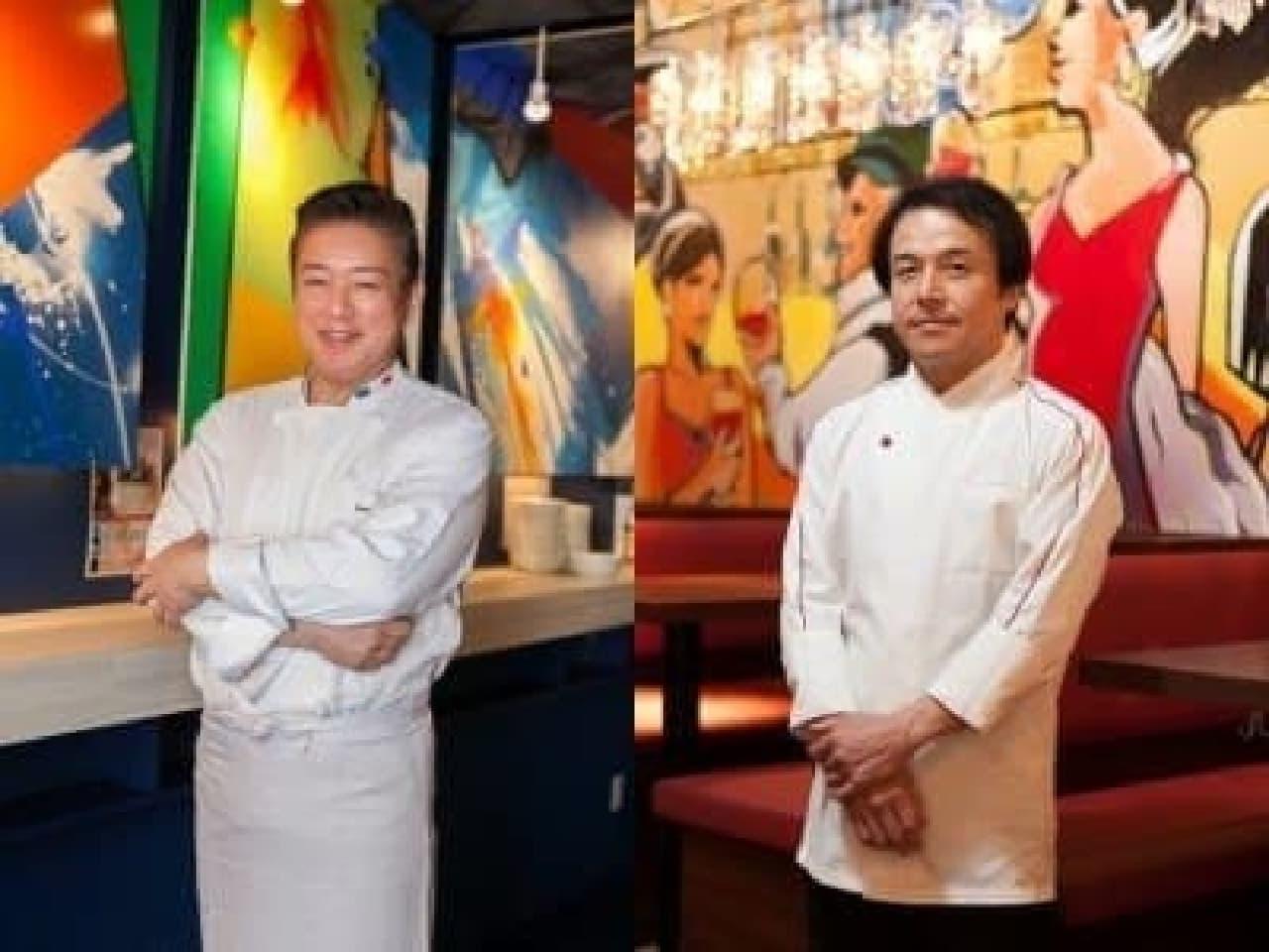 能勢シェフ(左)、山浦シェフ(右)