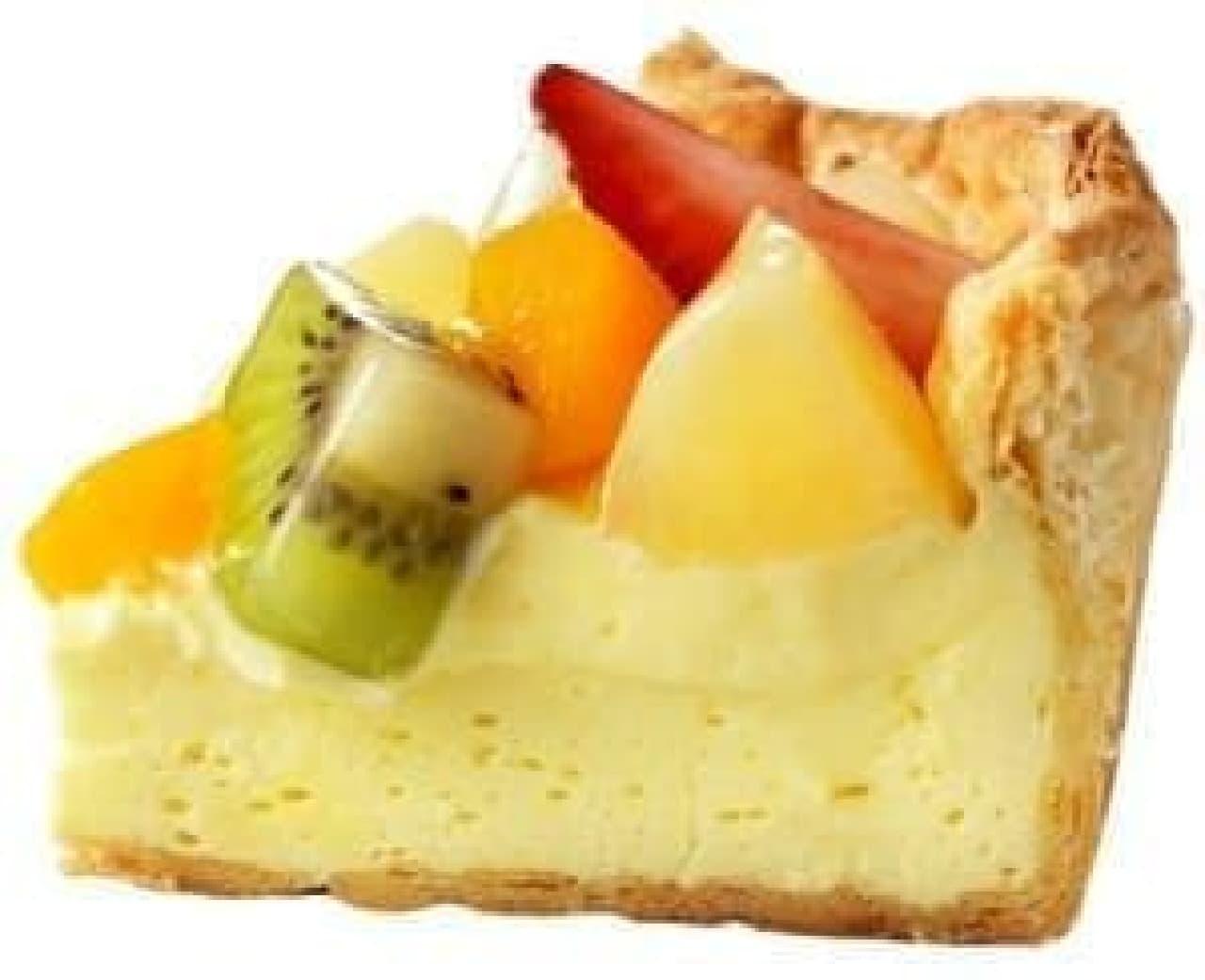 ジューシーなフルーツと、とろけるチーズを一口に...