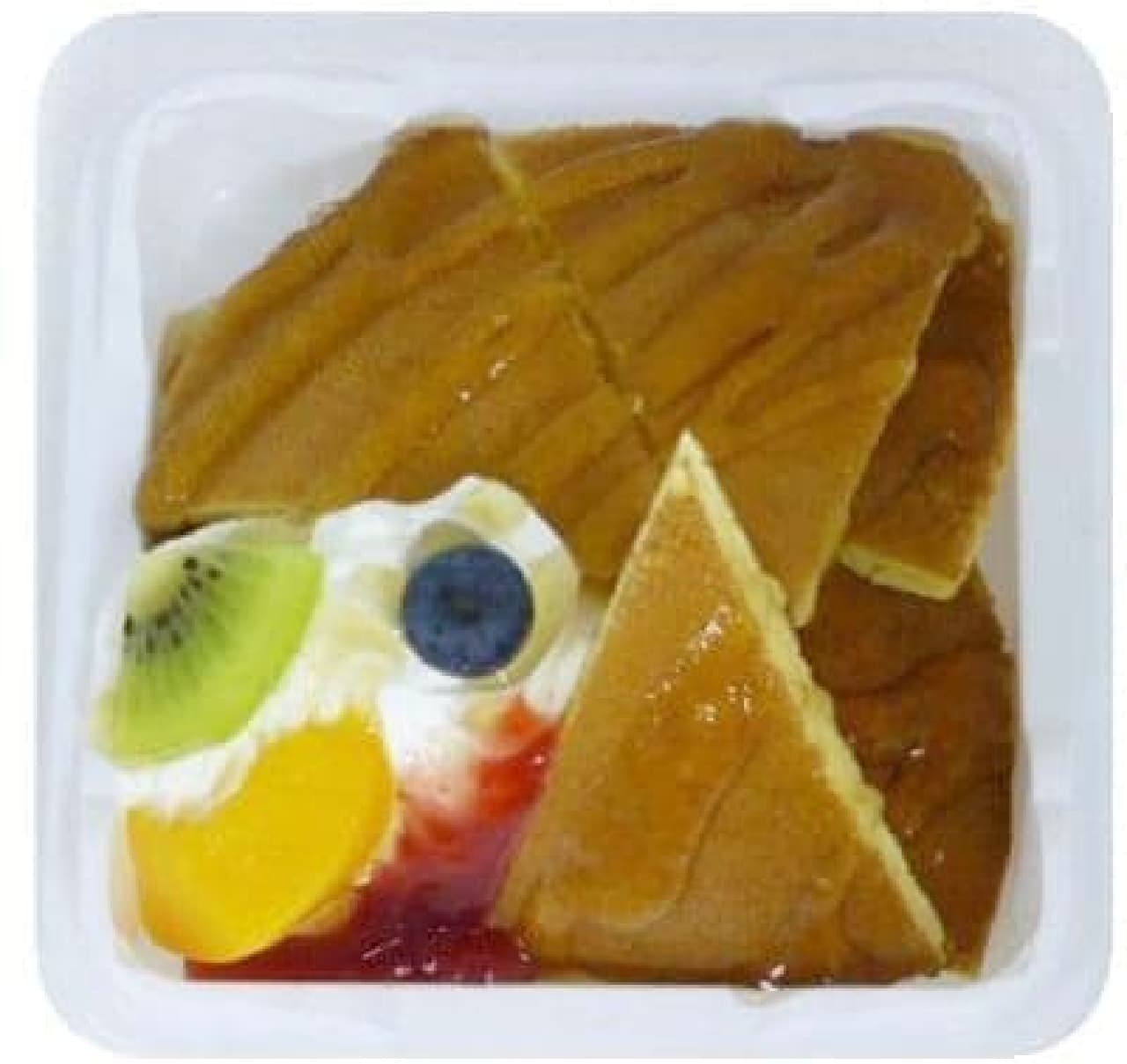 手軽に楽しめるパンケーキデザート!