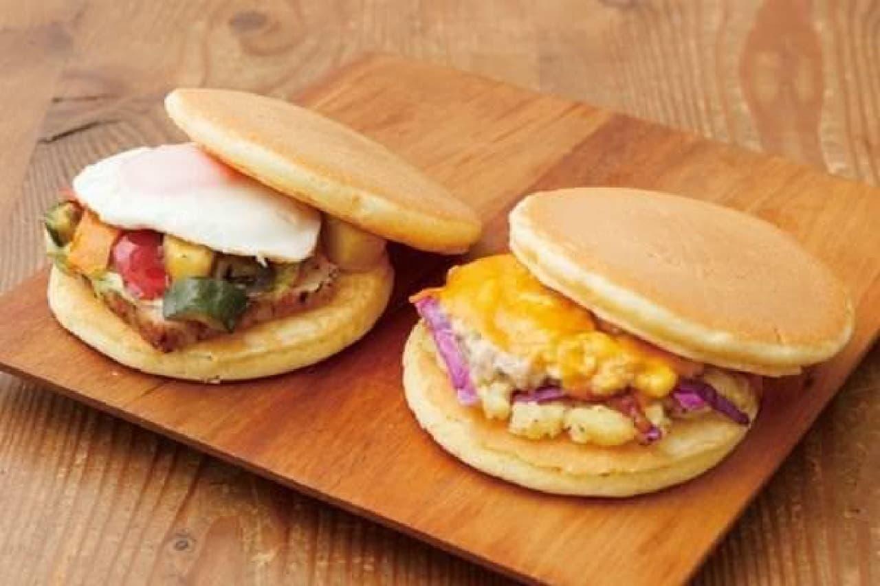 旅気分をさらに盛り上げる  「パンケーキサンドイッチ」はいかが?