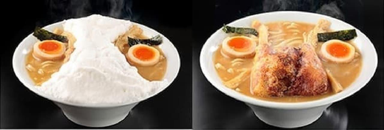 二丁目つけめん GACHI「変態仮麺」。メレンゲ製パンティの下にはお稲荷さん!