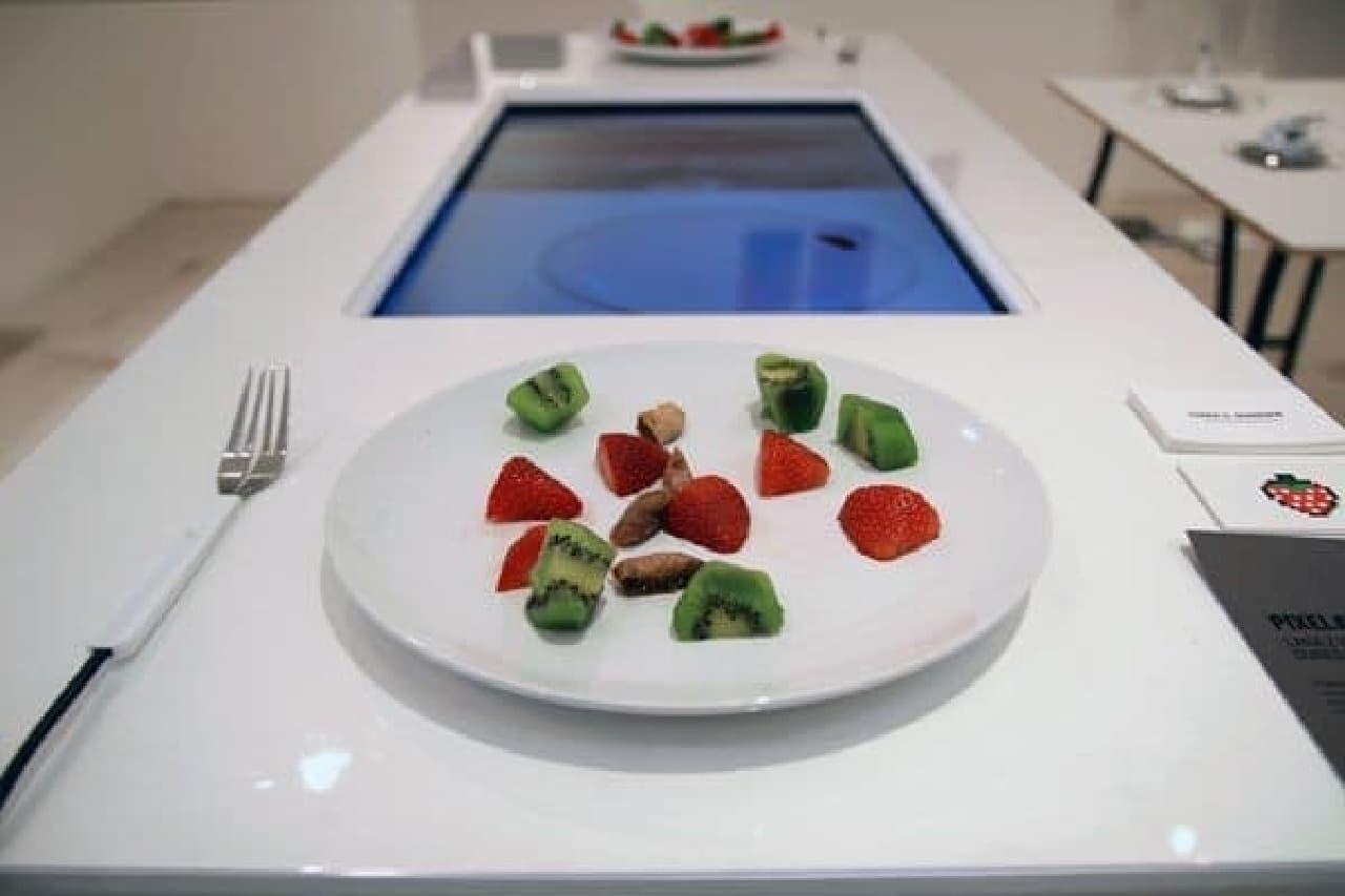 食べ物を使ったアーケードゲーム「Pixelate」